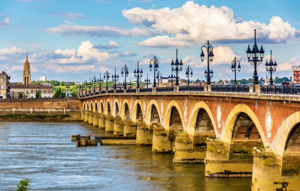 Pont de pierre in Bordeaux - Aquitaine, France