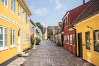 Historische Gasse in Odense (Fyn Danmark)