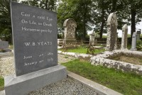 William Butler Yeats grave in Drumcliff, County Sligo, Ireland.